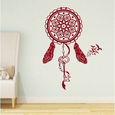 Steinber Dream Catcher Wall Decal Color: Burgundy