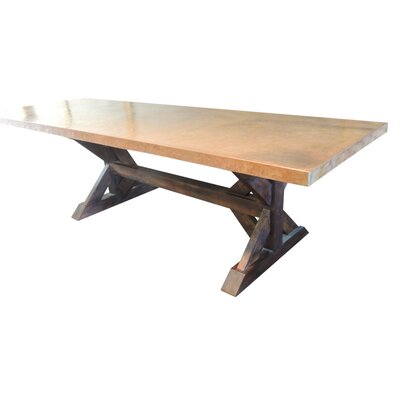 Farm Dining Table Base Finish: Dark Coco, Size: 30 H x 30 W x 84 L
