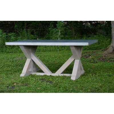Belgium Dining Table Base Finish: Rustic Sand, Size: 30 H x 38 W x 84 L