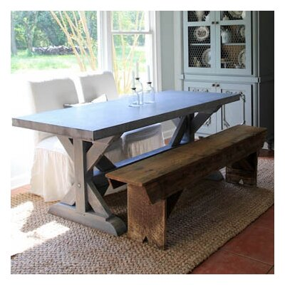 Farm Dining Table Base Finish: French Gray, Size: 30 H x 38 W x 84 L