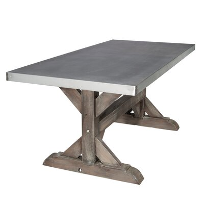 Farm Dining Table Base Finish: Rustic Sand, Size: 30 H x 38 W x 84 L