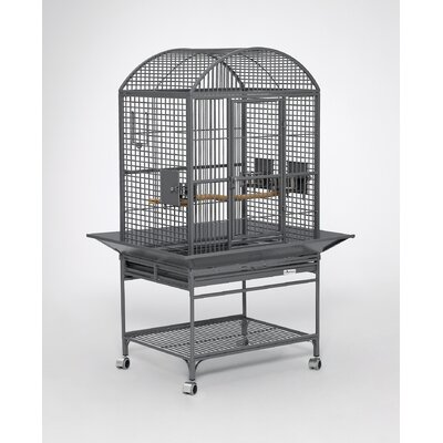Chiquita Bird Cage with Casters Color: Platinum, Top: Dome