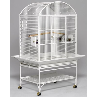 Mediana Dome Top Bird Cage Color: Pearl White