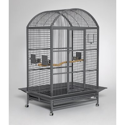 Grande Dome Top Bird Cage Color: Platinum