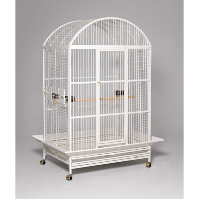 Grande Dome Top Bird Cage Color: Pearl White