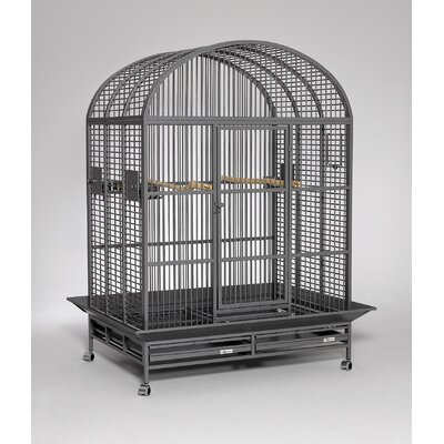 Hacienda Dome Top Bird Cage Color: Platinum