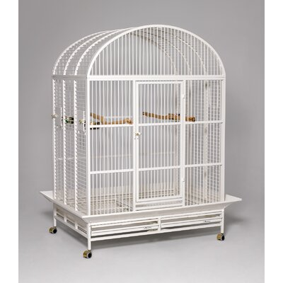 Hacienda Dome Top Bird Cage Color: Pearl White