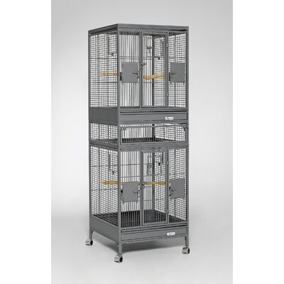 Multi Vista Bird Cage Color: Platinum