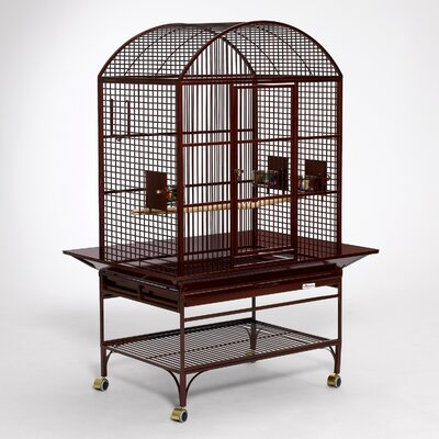 Mediana Dome Top Bird Cage Color: Ruby