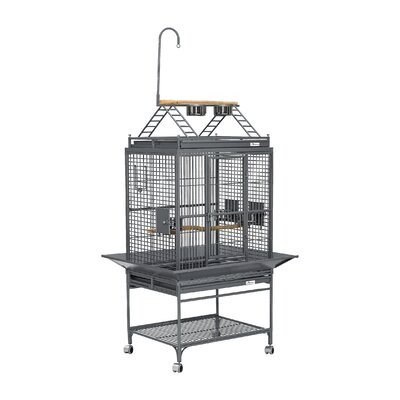 Chiquita Bird Cage with Casters Color: Platinum, Top: Play Top