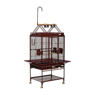 Chiquita Bird Cage with Casters Color: Ruby, Top: Play Top