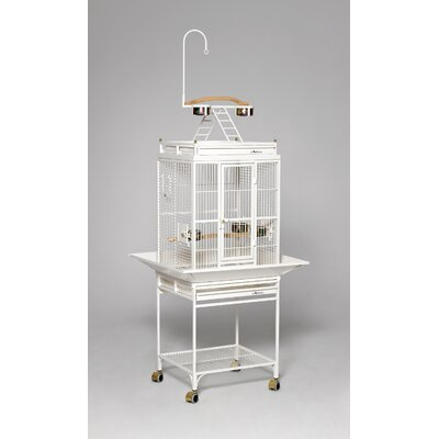 Nina Playtop Bird Cage Color: Pearl White