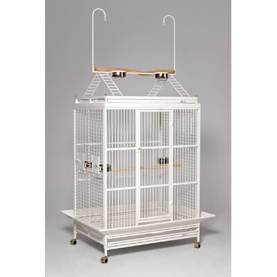 Grande Play Top Bird Cage Color: Pearl White