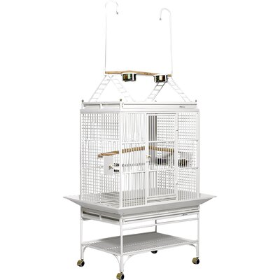 Mediana Play Top Bird Cage Color: Pearl White