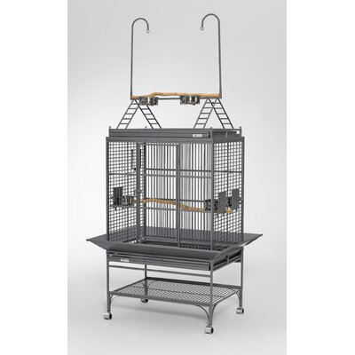 Mediana Play Top Bird Cage Color: Ruby