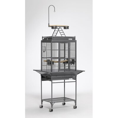 Nina Playtop Bird Cage Color: Platinum