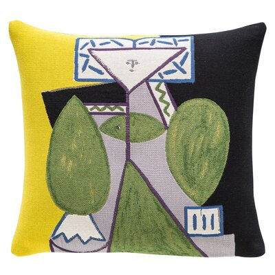 Femme en Vert et Mauve 1947 Throw Pillow