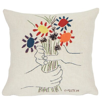 Fleurs et Main  Throw Pillow