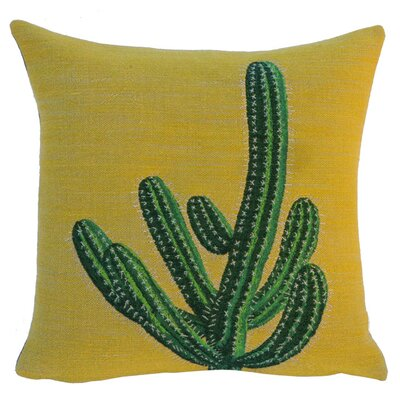 Optunia Classic Throw Pillow Color: Yellow