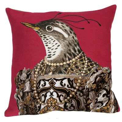 Eleonore Classic Throw Pillow Color: Dark Mauve