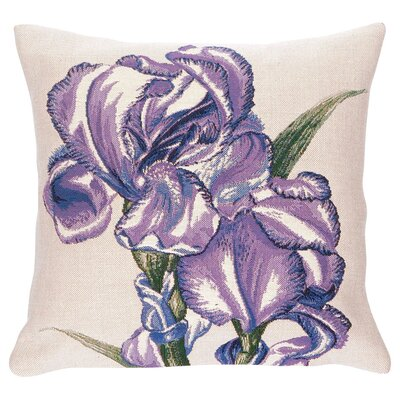 Iris Classic Throw Pillow Color: Blue