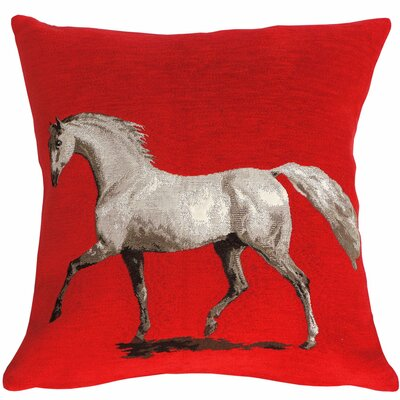 A Stallion Throw Pillow