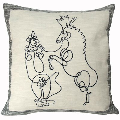 Cheval Et Dompteur  Throw Pillow