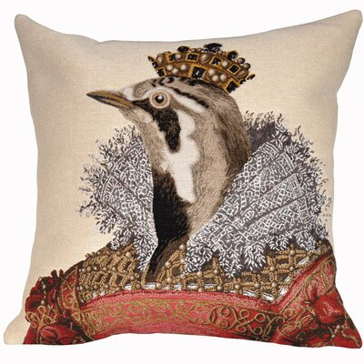 Elisabeth Classic Throw Pillow Color: Beige