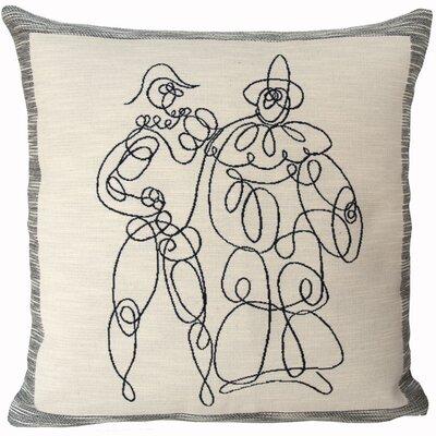 Arlequin Et Pierrot  Throw Pillow