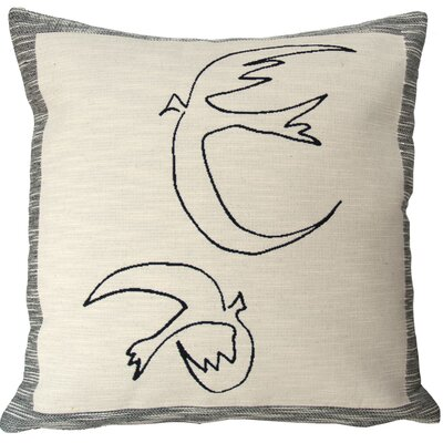 Hirondelles Throw Pillow