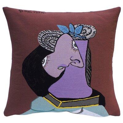 Le Chapeau de Paille au Feuillage Bleu Throw Pillow