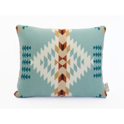 Echo Wool Lumbar Pillow Color: Blue
