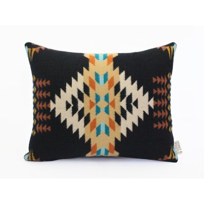 Echo Wool Lumbar Pillow Color: Black