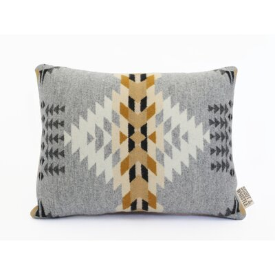 Echo Wool Lumbar Pillow Color: Gray