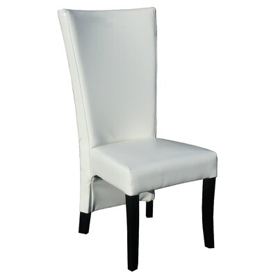 Cosmopolitan Genuine Leather Upholstered Dining Chair