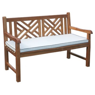 Chippendale Outdoor Bench Cushion Size: 63 W x 25 D