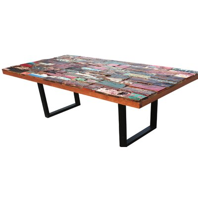 Barnes Rectangular Dining Table Table Size: 98 L x 39 W