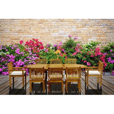 9 Piece Teak Elzas Set With Cushions