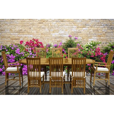 9 Piece Teak Balero Set with Cushions