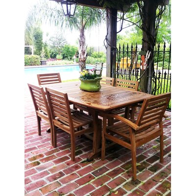 Miami Teak Extendable Dining Table