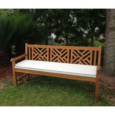Chippendale Outdoor Bench Cushion Size: 71 W x 26 D