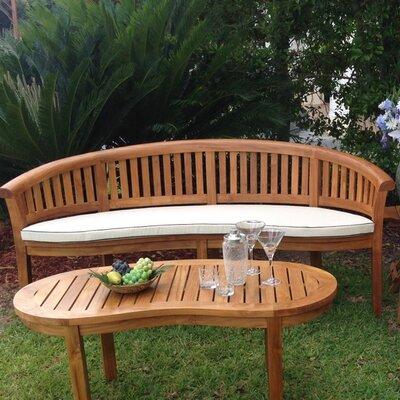Peanut Outdoor Bench Cushion Size: 34 H x 74 W x 31 D