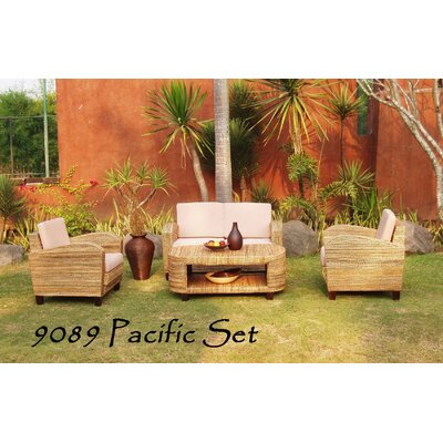 Cliona 4 Piece Rattan Sofa Set with Cushions