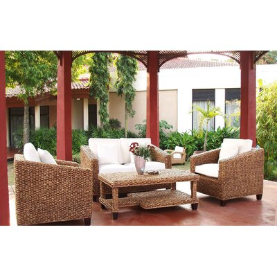 Cobham 4 Piece Rattan Sofa Set with Cushions