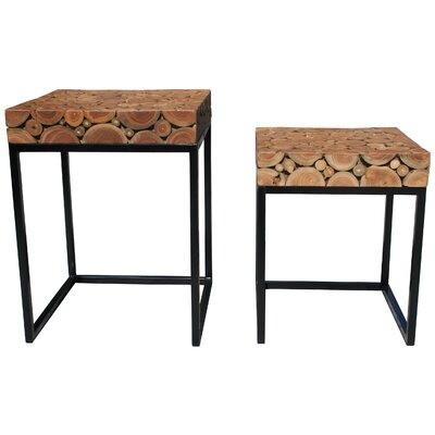 By Pass Teak Nesting Tables