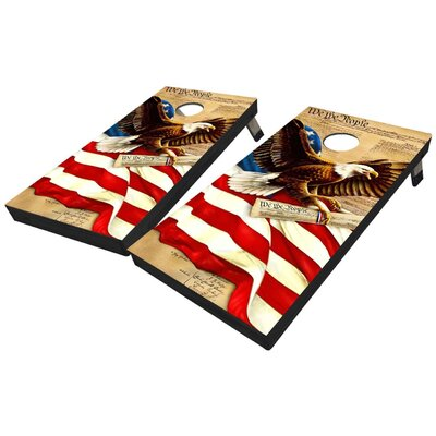 Declaration of Independence and Eagle 10 Piece Cornhole Set Declaration of Independence and Eagle Cornhole Board Sets
