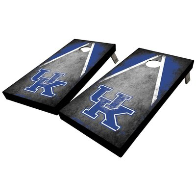 University of Kentucky Distressed Triangle 10 Piece Cornhole Set University of Kentucky Distressed Triangle Cornhole Board Set