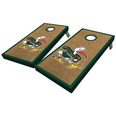 University of Miami Classic Ibis 10 Piece Cornhole Set University of Miami Classic Ibis Cornhole Board Set