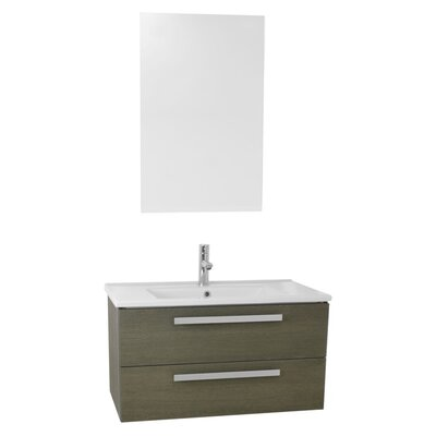 Dadila 32.7 Single Bathroom Vanity Set with Mirror