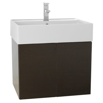 Smile 23 Single Bathroom Vanity Set Base Finish: Wenge